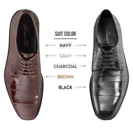 Black VS Brown Shoes Graphic