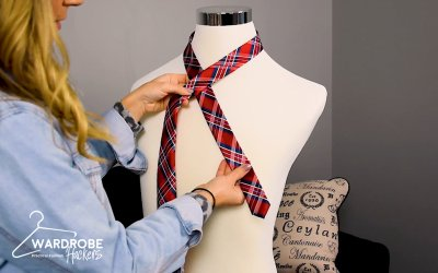 How to Tie a Four-In-Hand Knot Necktie for Someone Else (Watch Video)