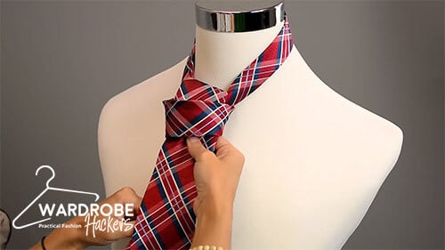 how to tie a full windsor knot step 11