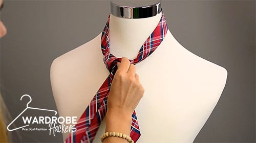 how to tie a full windsor knot step 7