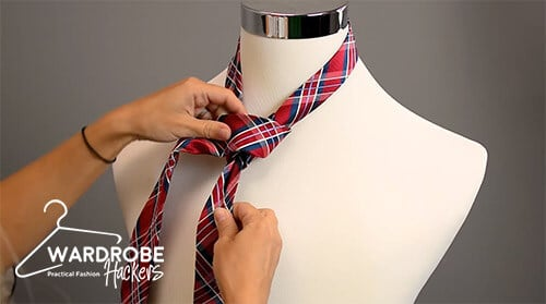 how to tie a full windsor knot step 8